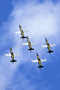 Airplane Prints - Breitling air display team Print by Nir Ben-Yosef