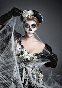 Sugar Skull Posters - Bride of the Dead Poster by Nailia Schwarz