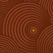 Swirls Paintings - Brown Abstract by Frank Tschakert