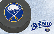Puck Prints - Buffalo Sabres Print by Joe Hamilton