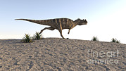 Running Digital Art - Ceratosaurus Running Across A Barren by Kostyantyn Ivanyshen