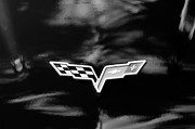 Chevrolet Framed Prints - Chevrolet Corvette Emblem Framed Print by Jill Reger