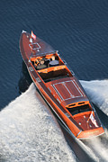 Runabout Framed Prints - Chris-Craft Aerial Framed Print by Steven Lapkin