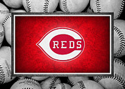 Baseball Bat Posters - Cincinnati Reds Poster by Joe Hamilton