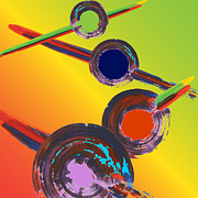 Digital Abstract Originals - 4 Circle Series 02 by Ramon Martinez Jr