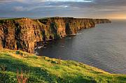 Warm Metal Prints - Cliffs of Moher co. Clare Ireland Metal Print by Pierre Leclerc