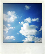 White Photo Posters - Clouds Poster by Les Cunliffe