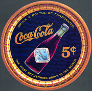 Bottle Photos - Coca - Cola Vintage Poster by Sanely Great