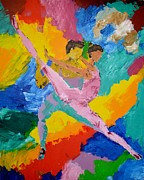 Ballet Dancers Painting Posters - Dancers Poster by Marcello Martinho