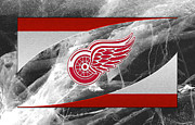 Puck Framed Prints - Detroit Red Wings Framed Print by Joe Hamilton