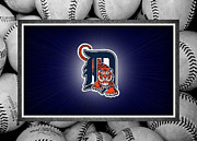 Baseballs Framed Prints - Detroit Tigers Framed Print by Joe Hamilton