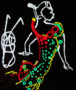 Dinka Dance Pyrography Posters - Dinka Groom - South Sudan Poster by Gloria Ssali