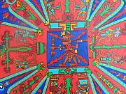 Chicano Painting Prints - 4 Directions Print by Jane Madrigal