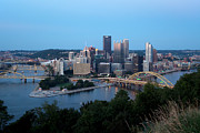 Upmc Posters - Downtown Skyline of Pittsburgh Pennsylvania Poster by Bill Cobb