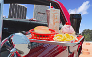 Cheeseburger Framed Prints - Drive in Framed Print by Rudy Umans