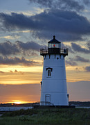 New England Architecture Photos - Edgartown Lighthouse by John Greim