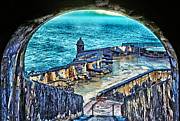 Historic Fortress Digital Art Prints - El Morro Fortress Old San Juan Print by Thomas R Fletcher