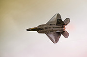 Formation Flying Posters - F-22 Raptor Poster by Sebastian Musial