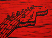 Blockprint Originals - Fender Strat by William Cauthern