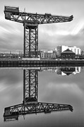 Scotland Prints Framed Prints - Finnieston Crane Glasgow Framed Print by John Farnan