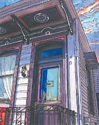 Porch Painting Originals - French Quarter Door by John Boles