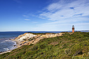 Vineyard Landscape Posters - Gay Head Lighthouse Poster by John Greim