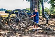 Gettysburg Battleground Print by  Bob and Nadine Johnston