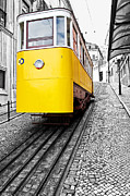 Selective Color Posters - Gloria Funicular Poster by Lusoimages
