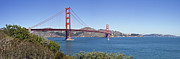 Headlands Photos - Golden Gate Bridge by Melanie Viola