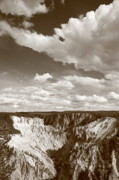 Rocky Mountain Posters Prints - Grand Canyon of Yellowstone Print by Frank Romeo