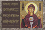 Byzantine Icon Digital Art Posters - Greeting Cards Mystic Minute Poster by Mary jane Miller