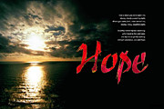 Bipolar Digital Art Posters - Hope Poster by Chuck Mountain