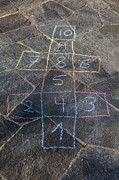 Drawn Photo Prints - Hopscotch Print by Joana Kruse
