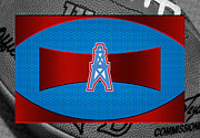 Oilers Posters - Houston Oilers Poster by Joe Hamilton