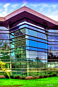 Ellicott Digital Art - Howard County Library - Miller Branch by Stephen Younts