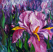 Original Oil Paintings - Irises by Willson Lau