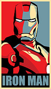 Red Digital Art Posters - Iron Man Poster by Caio Caldas