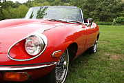 Jaguar E Type Classic Car Posters - Jaguar E-Type Poster by Neil Zimmerman