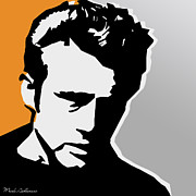 80s Digital Art Framed Prints - James dean  Framed Print by Mark Ashkenazi