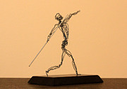 Featured Sculptures - Javelin Thrower  by Mel Drucker