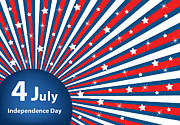 4th July Digital Art Posters - 4 July independence day background Poster by Toots Hallam
