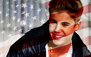Justin Bieber Print by Marvin Blaine