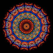Kaleidoscope Stained Glass Window Series Print by Amy Cicconi