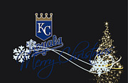 Glove Photo Framed Prints - Kansas City Royals Framed Print by Joe Hamilton