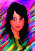 Katy Perry Painting Prints - Katy Perry Print by Bogdan Floridana Oana