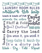 Subway Art Prints - Laundry Room Rules Poster Print by Jaime Friedman