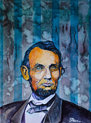 Abe Paintings - Lincoln by Scott  Parker