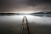 Winter Prints Photos - Loch Lomond by Grant Glendinning