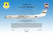 Air Wing Graphics Prints - Lockheed C-141B Starlifter Print by Arthur Eggers