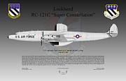 Ma Digital Art - Lockheed RC-121C Super Constellation by Arthur Eggers